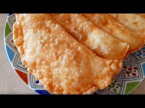 Настоящие ЧЕБУРЕКИ - тонкое, хрустящее тесто и сочная начинка. Чебуреки с пузырьками