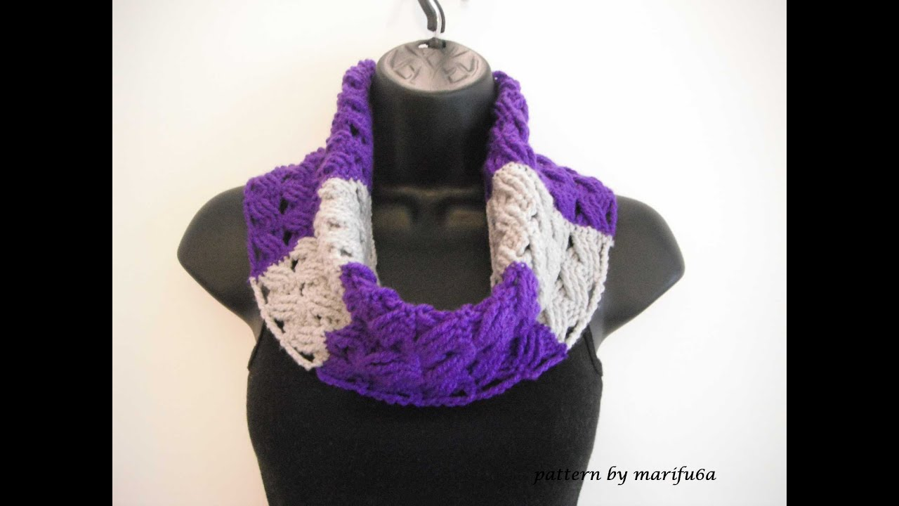 how to crochet cowl free pattern tutorial for beginners - YouTube