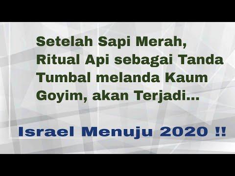 Israel Menyambut Kedatangan Dajjal, Sapi Merah, Ritual Api, Tanda Tumbal Kaum Goyim Utk Bait Suci 3