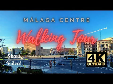 [4K] Málaga Centre Walking Tour around Shopping Centres El Corte Inglés and Málaga Plaza Area 👀✨🎬☀
