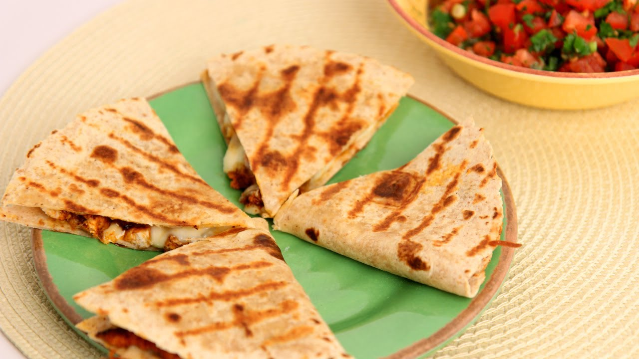 Chicken Quesadilla Recipe Laura Vitale Laura In The Kitchen