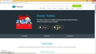 Download Docker Toolbox for Windows