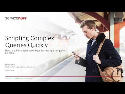 Video: Scripting Complex Queries Quickly - Developer
