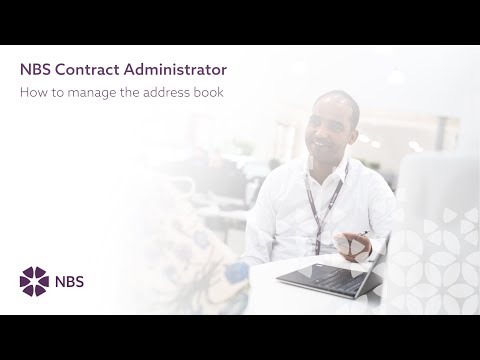 How to manage the address book in NBS Contract Administrator