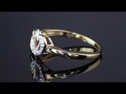 Diamond Accent Interlocking Heart Promise Ring