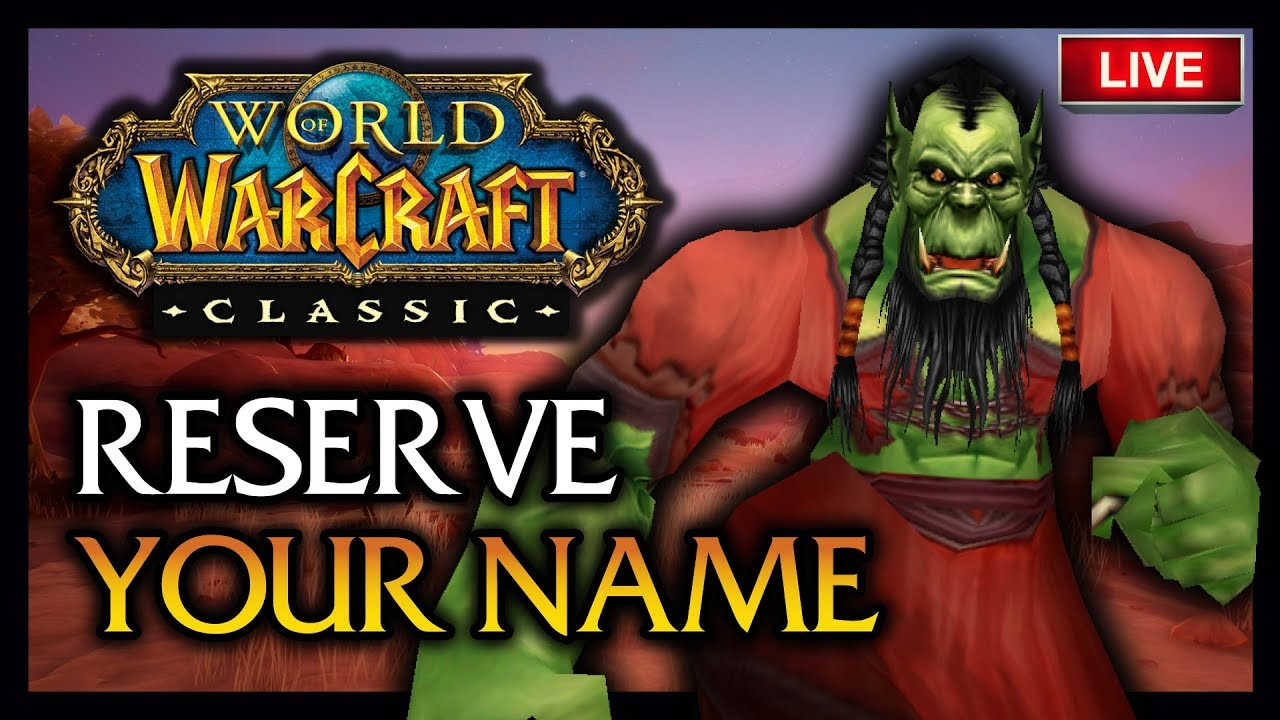 🍦🔥CREATE YOUR 3 CHARACTERS TODAY - CLASSIC WOW NAME RESERVATION!
