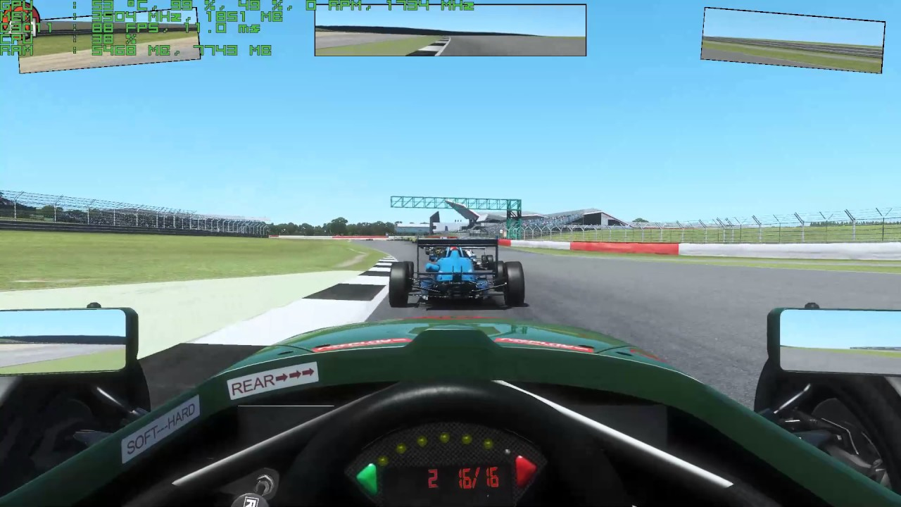 rFactor 2 DX11 Perf test  High settings