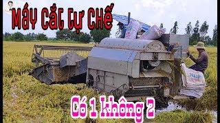 Máy gặt đập Liên Hợp TỰ CHẾ có 1 không 2 tại Giồng Riềng, Băng Sìn lầy quá đỉnh   Quốc An Nguyễn