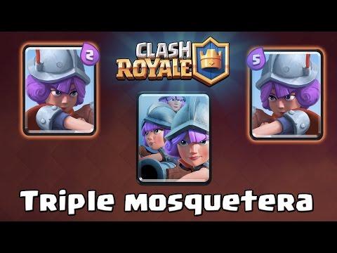 ¡¡TRIPLE MOSQUETERA!! El mazo más arriesgado del juego | Arena 7 | Clash Royale