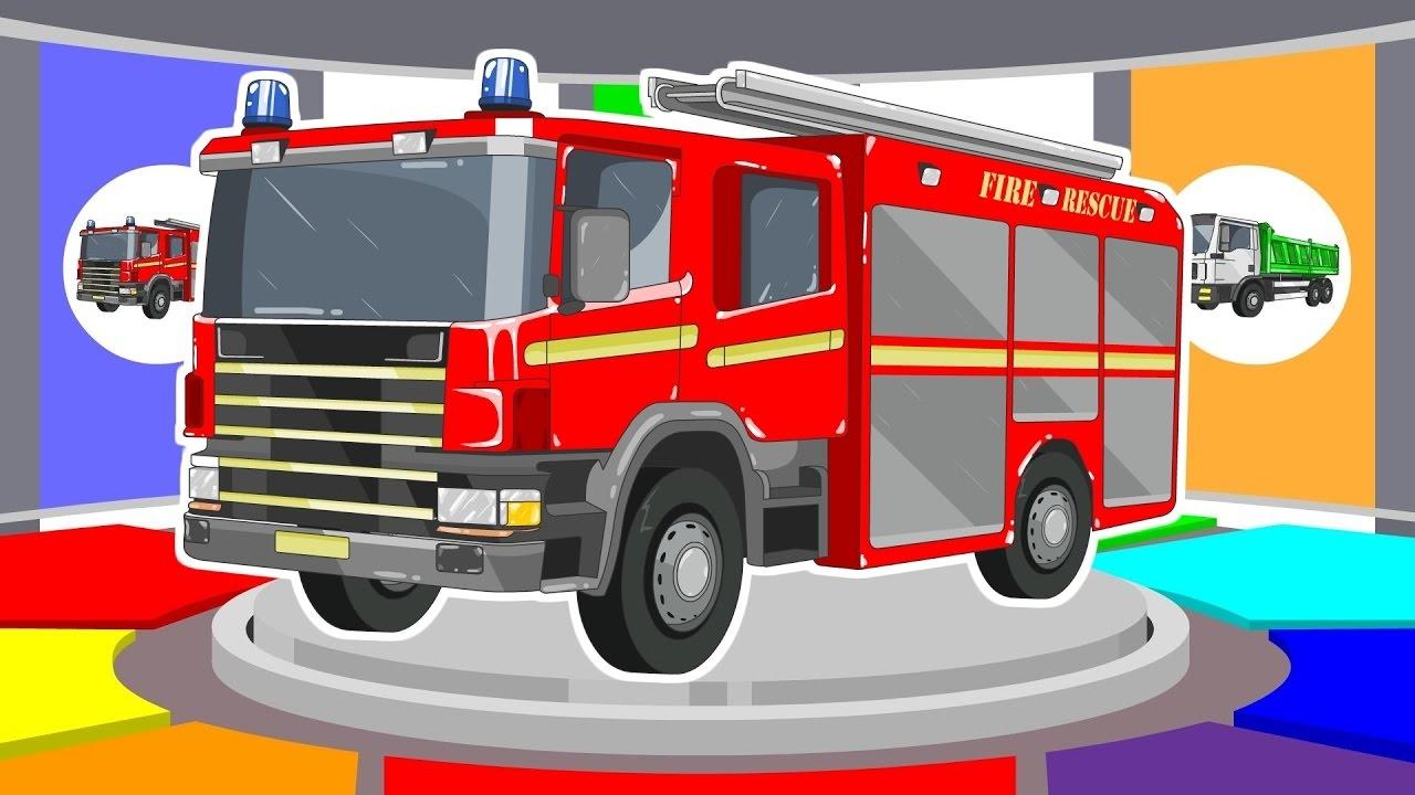 Bien-aimé Apprendre Les Couleurs Avec Camion De Pompiers - Véhicules Pour  UC34