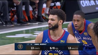 Jamal Murray Has Hilarious Reaction After Giannis Falls Over On Free Throw