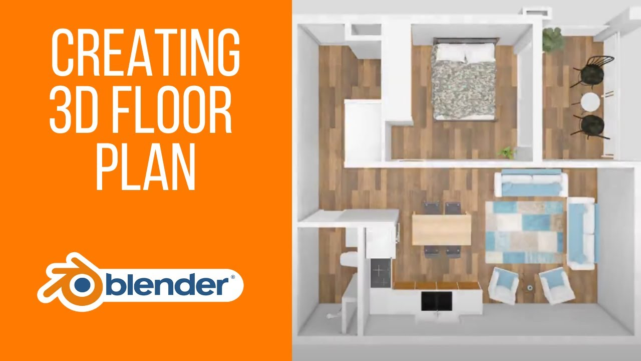 Part 1 How To Create 3d Floor Plan In Blender Time Lapse Youtube