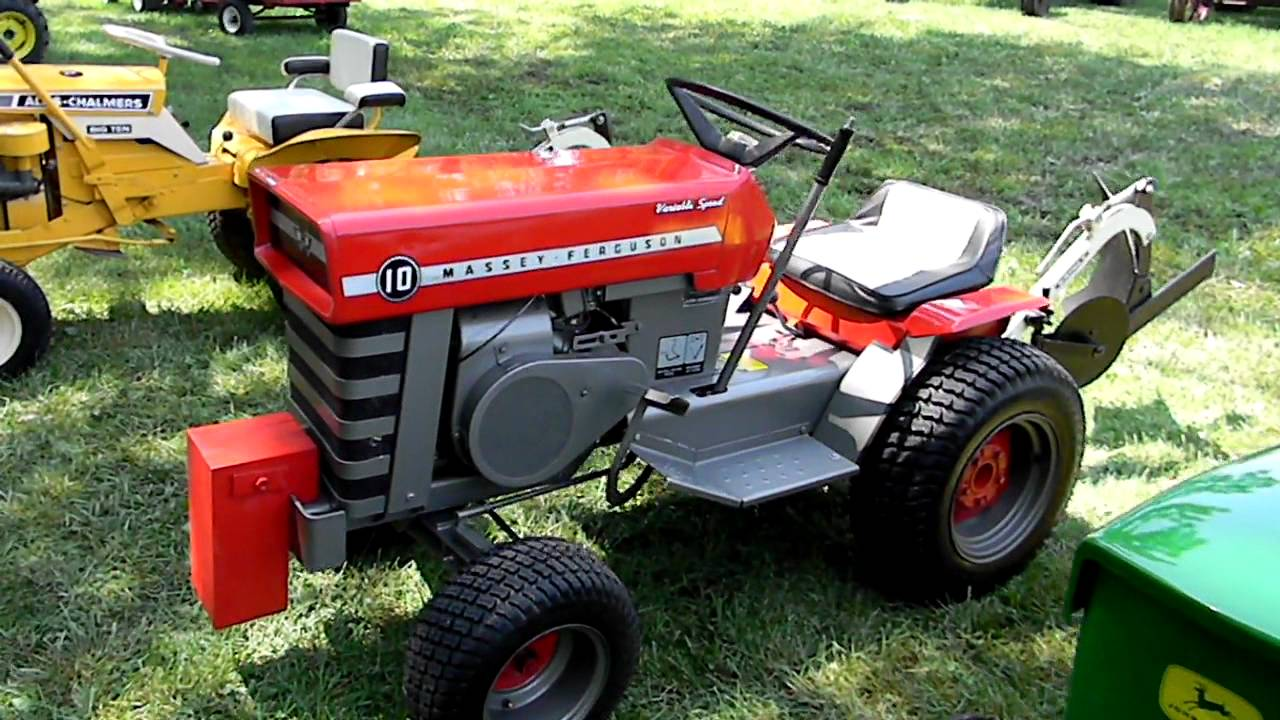 & antique lawn garden tractors