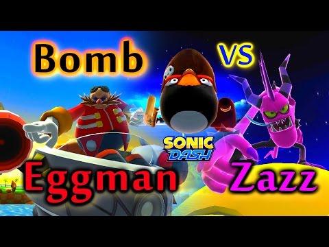Sonic Dash - Angry Bird Bomb VS Eggman VS Zazz [Widescreen / Landscape 1080p]