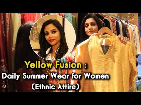 Yellow Fusion: Daily Summer Wear for Women | The Ethnic Attire