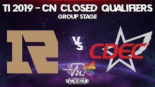 Royal Never Give Up vs CDEC - TI9 CN Regional Qualifiers: Group Stage