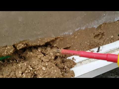 Sand under concrete -easy tube access