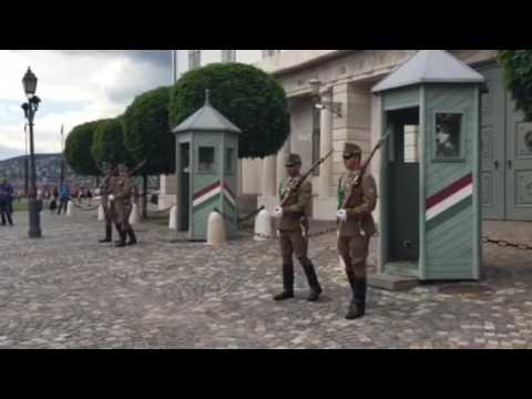Changing of the Guards-Budapest president's residence