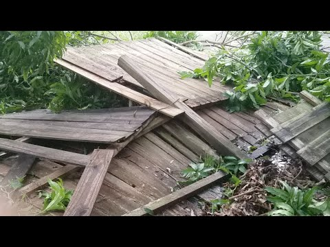 Hurricane Irma Damage Fort Pierce South Florida Fence Down