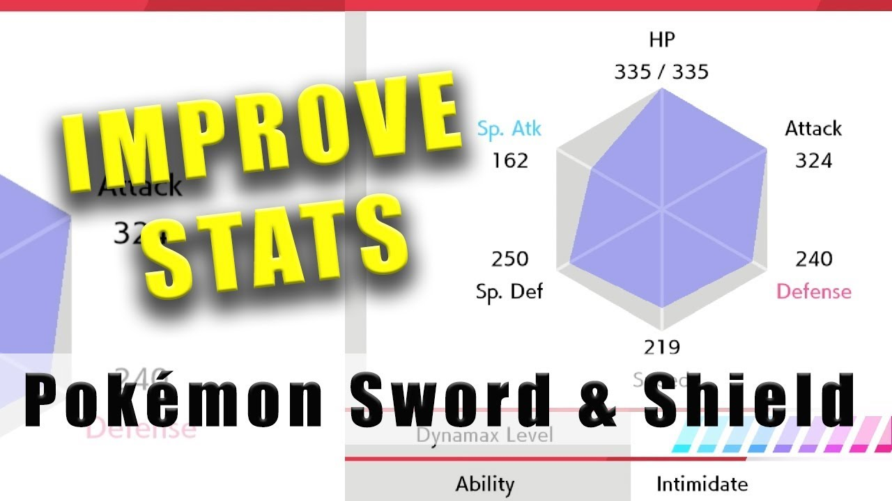 Pokémon Sword and Shield how to improve stats like a BOSS - YouTube