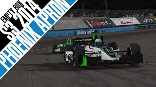 iRacing : THE RIDICULOUSNESS KNOWS NO BOUNDS. (Indycar @ Phoenix Apron Edition)