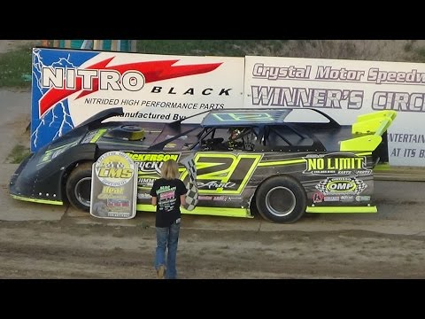 5. Late Model Heat Race #2 at Crystal Motor Speedway on 05-13-17.