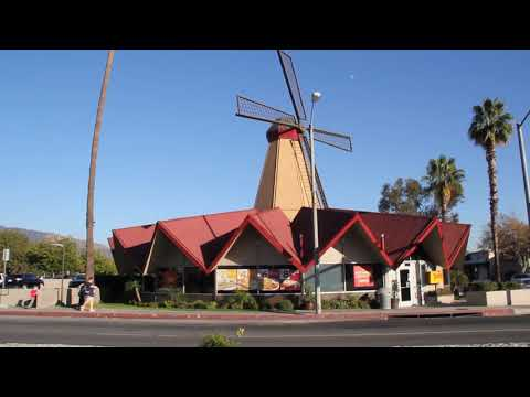 Spinning Windmill Atop Denny's Restaurant In Arcadia, California (two Days Before It Fell Down!)