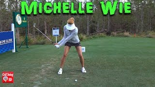 2017/2018 MICHELLE WIE 120fps HD FACE ON IRON GOLF SWING 1080 HD