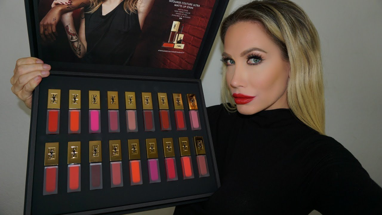 Ysl Matte Lip Stain Lip Swatch Amp Review All 18 Shades