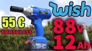 j'ai acheté une clé à chocs sur WISH à 55 € ! 88 V 12000 mAh Brushless deboulonneuse