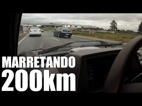 GOL TURBO EMPURRANDO MERCEDES C-200 - MARRETANDO OS 200KM - PASSA MAL