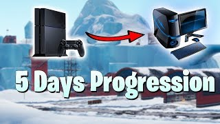 Switched to PC! 5 Days Progression | Season 7! | Fortnite Battle Royale Gameplay