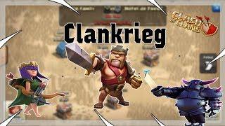 Live Clankrieg bei meinem Sohn und bei Big family Clash of Clans/deutsch