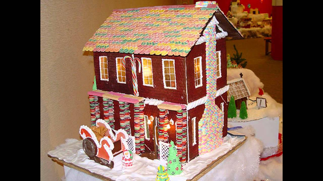 Cool gingerbread house decorating ideas youtube Cool christmas house decorations