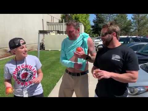 Hooker, DB and Becka - Hooker, DB and Becka Attempt the 'Apple Bicep Challenge'