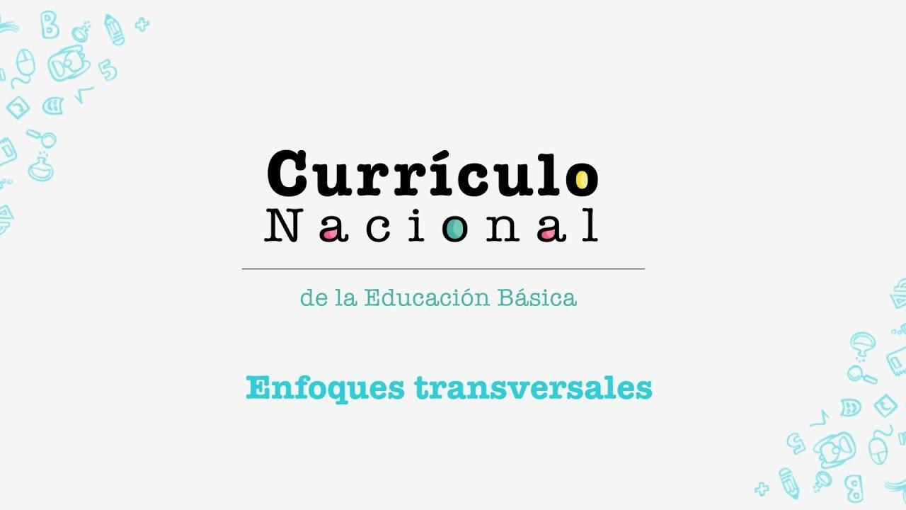 A qu llama el curr culo nacional enfoques transversales for Nuevo curriculo de educacion inicial