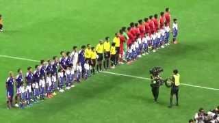 日本代表×シンガポール代表 選手入場ビジュアル国歌 W杯アジア2次予選