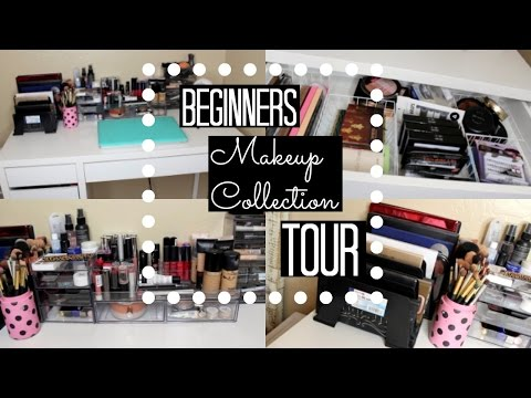 My Beginners Makeup Collection | Vanity Tour 2016