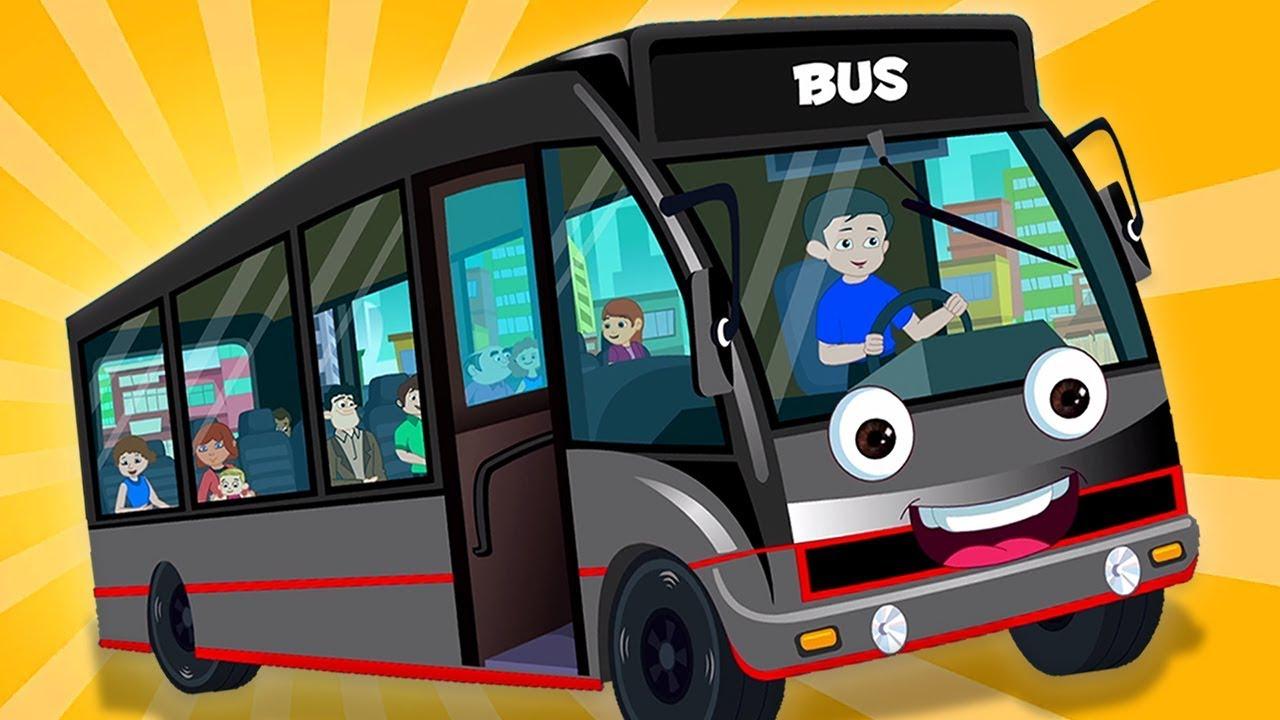 公共汽車上的輪子   巴士韻  兒童歌曲  公交車為孩子   在中國押韻  童謠為孩子   Wheels On The Bus   Kids Channel China   兒童漫畫和嬰兒歌曲 ...