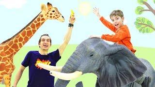 Видео для детей. Обзор игрушек. Зоопарк — игрушечные животные