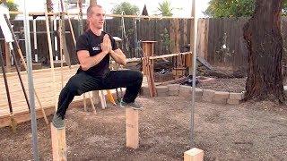 Kung Fu Balance Post Training - Mei Flower Post