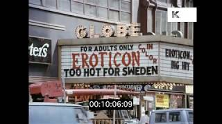 Seedy 1970s Times Square New York, HD from 35mm