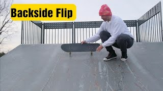 How to Backside flip (on a ramp)