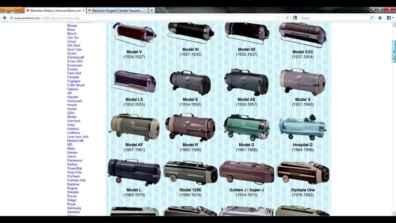 An Interactive History Of Electrolux Vacuum Cleaners Youtube