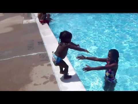 baby falls in pool