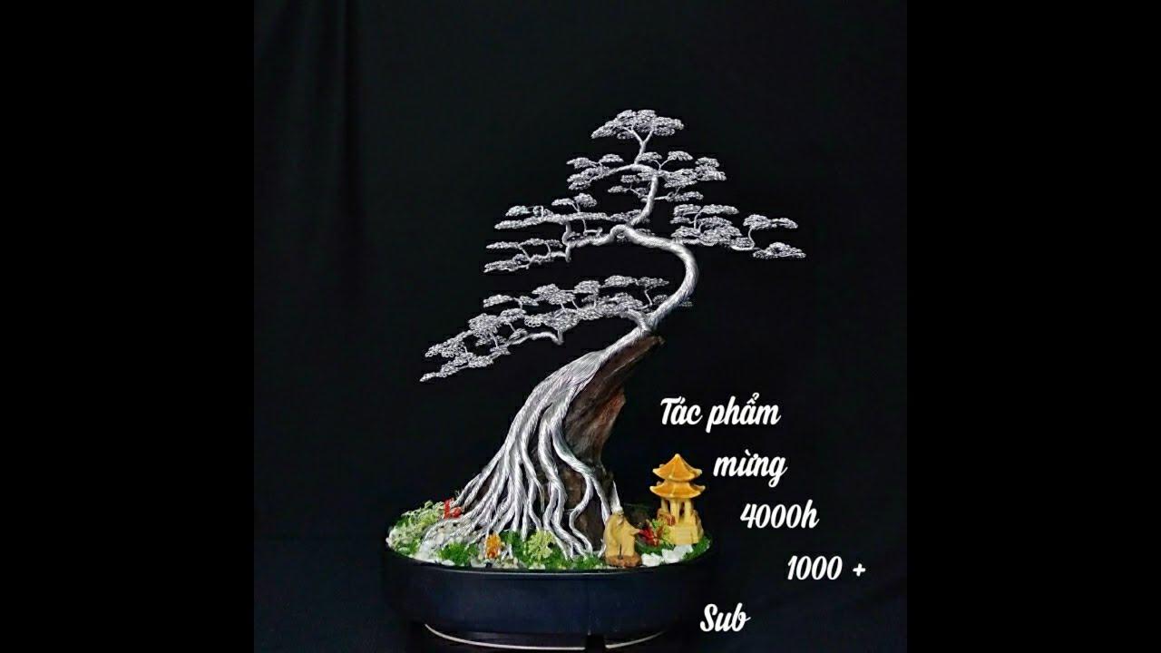 bonsai handmade sadec mừng 4000h 1000 sub Dáng trực ghép lũa