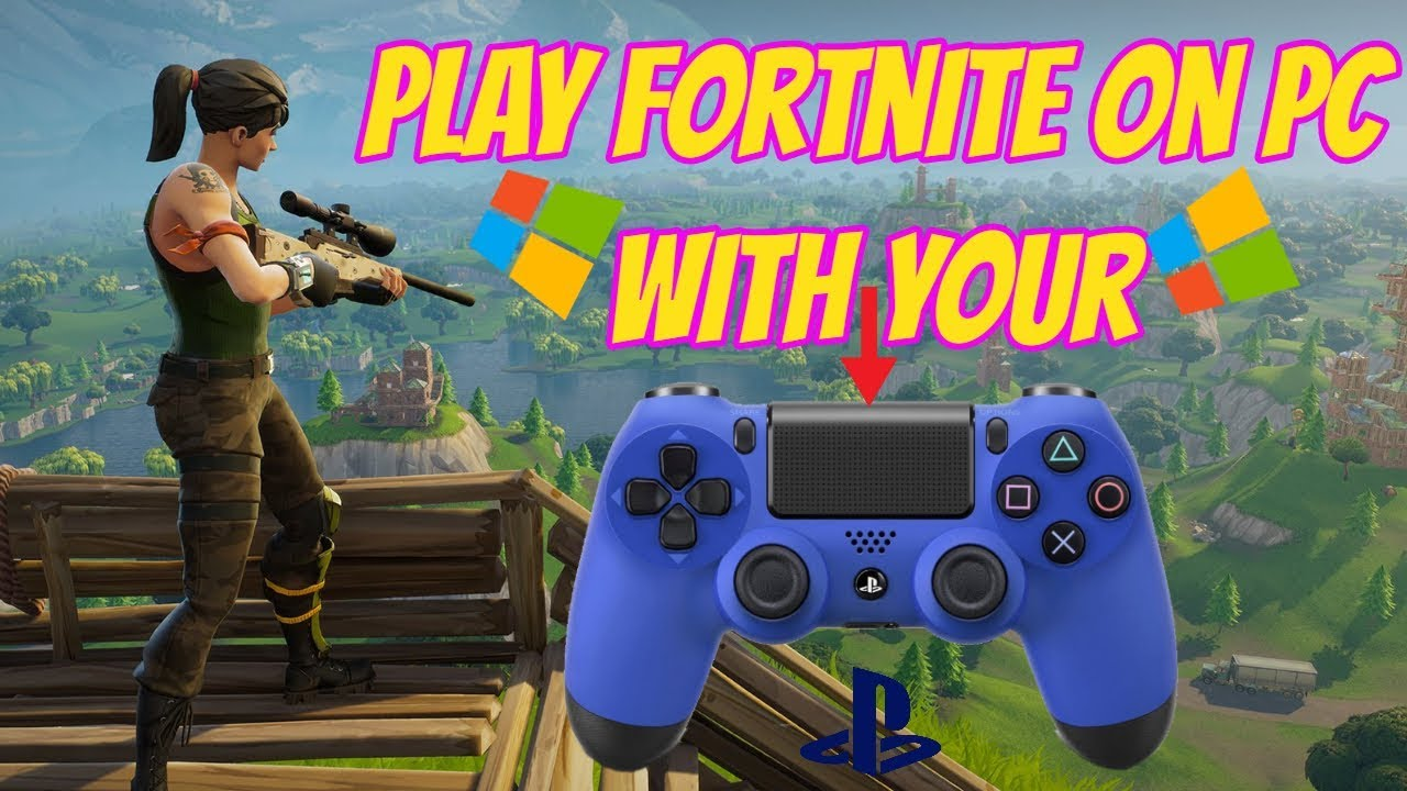 play fortnite on pc with ps4 controller - play ps4 and pc fortnite