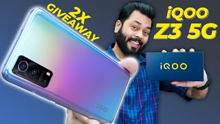 iQOO Z3 5G Unboxing And First Impressions | 2X Giveaway ⚡ Snapdragon 768G, 120Hz Screen, 64MP & More