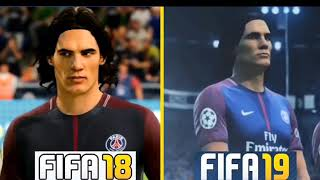 ALL PLAYER FACES OF OF PSG PLAYER FIFA 19 FT NEYMAR,MBAPPE,THIAGO SILVA