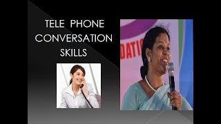 TELEPHONE  CONVERSATION  SKILLS